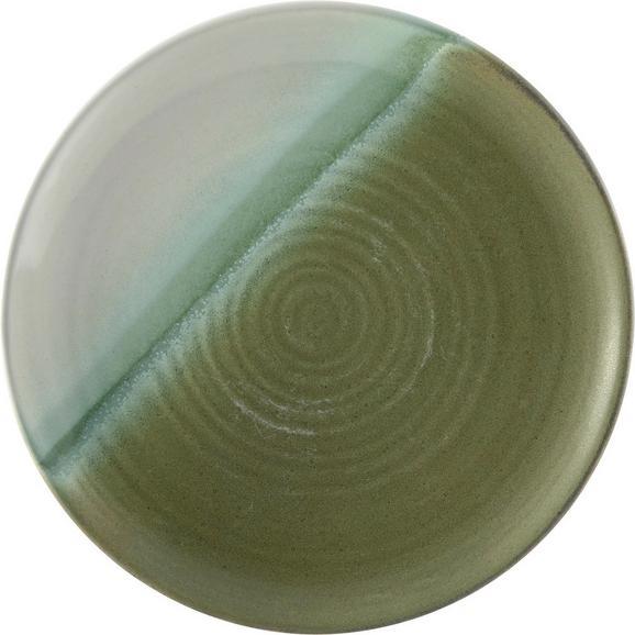 Dessertteller Shannon in Grün - Grün, ROMANTIK / LANDHAUS, Keramik (21,8/2,3cm) - MÖMAX modern living
