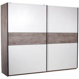 Omara Z Drsnimi Vrati Julia - aluminij/bela, Konvencionalno, kovina/leseni material (270/225/62cm) - Mömax modern living