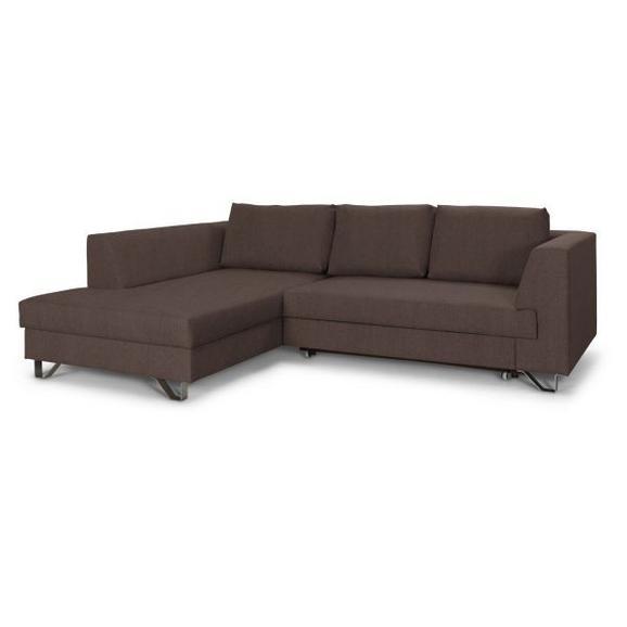 Sedežna Garnitura Mohito - srebrna/rjava, Moderno, kovina/tekstil (196/280cm) - Premium Living