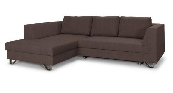 Sedežna Garnitura Mohito - srebrna/rjava, Moderno, kovina/tekstil (196/280cm)