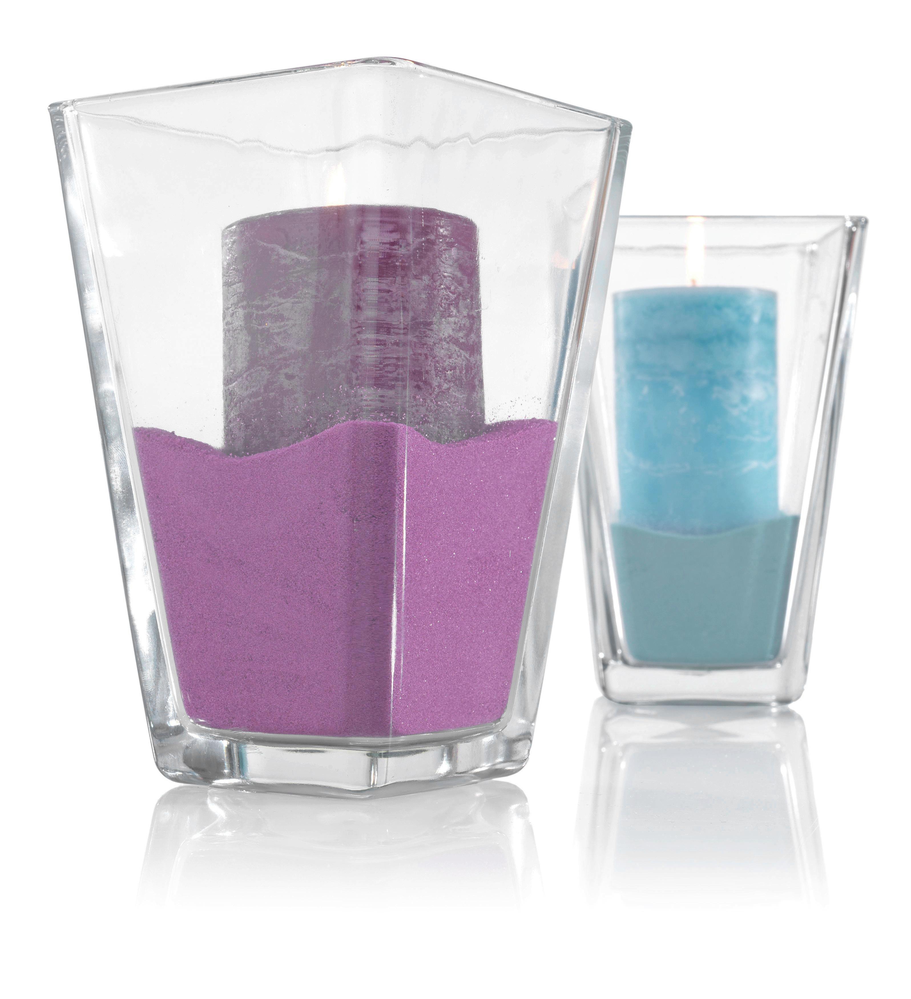 Váza Mona - tiszta, modern, üveg (11/17/11cm) - BASED