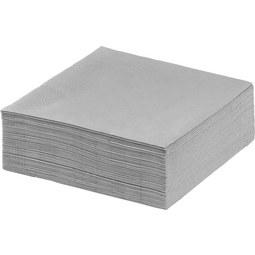 Serviette Kathleen in Grau - Grau, Papier (33/33cm) - Mömax modern living
