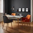 Stuhl Samantha - Dunkelgrau/Buchefarben, MODERN, Holz/Textil (59/82/65cm) - Mömax modern living