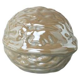 Dekofrucht Jimmi I Grau - Grau, Basics, Keramik (8/6,7/6cm)