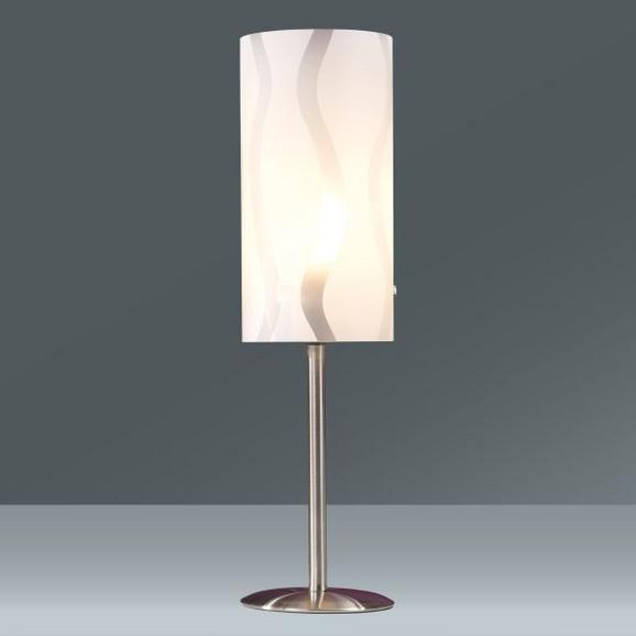 ASZTALI LÁMPA HANNAH - ezüst színű/fehér, konvencionális, műanyag/fém (12/41cm) - MÖMAX modern living