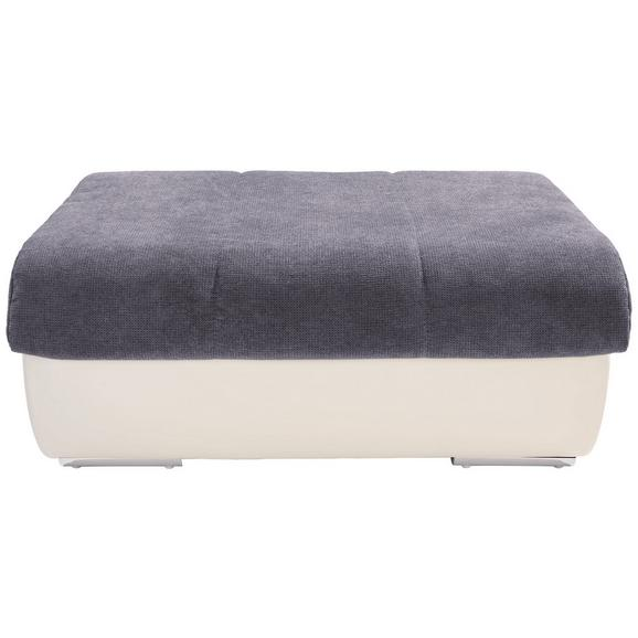 Lounge Tabure Multi - siva/boje kroma, Modern, tekstil/metal (100/43/80cm) - Modern Living