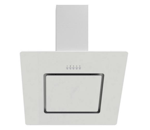 Dunstabzugshaube Ch22010wx - Weiß, MODERN, Glas/Metall (60/80,6-110,6/33,7cm)