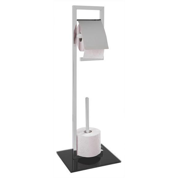 Toilettenpapierhalter SPRUCE 1 - Chromfarben/Schwarz, Glas/Metall (25/70/20cm) - Mömax modern living
