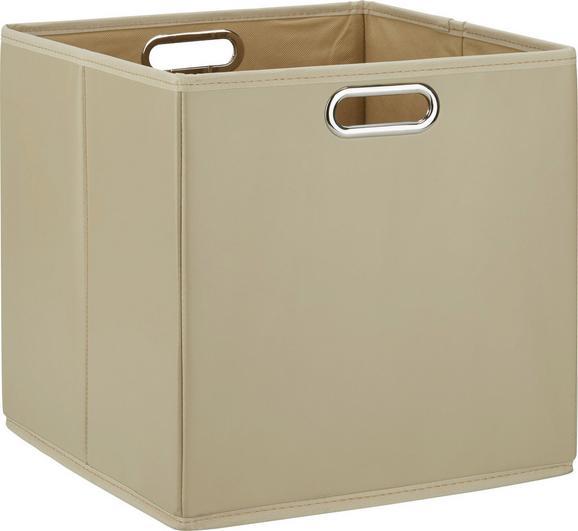 Aufbewahrungsbox Ivy Taupe - Taupe, Kunststoff/Metall (33/32/33cm) - MÖMAX modern living