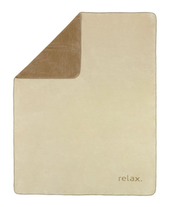 Kuscheldecke Relax in Beige/taupe - Taupe/Beige, KONVENTIONELL, Textil (150/200cm) - PREMIUM LIVING