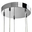 Pendelleuchte Illya 5-flammig - Grau, MODERN, Metall (32/130cm) - Mömax modern living