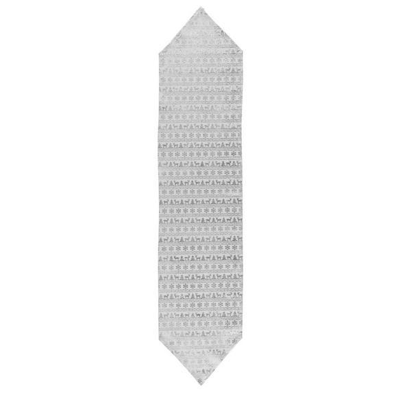 Asztali Futó X-mas - Fehér/Ezüst, Textil (32/150cm) - Mömax modern living