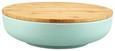 Schüssel Anabel Mint L mit Deckel - Naturfarben/Grün, Natur, Holz/Holzwerkstoff (25,4/6,8cm) - Zandiara