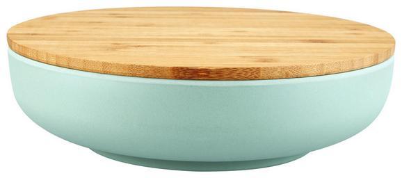 Schüssel mit Deckel Anabel aus Bambusfaser - Naturfarben/Grün, Natur, Holz/Holzwerkstoff (25,4/6,8cm) - Zandiara