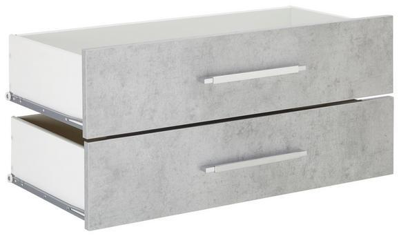 Schubladenset in Grau - Grau, MODERN, Holzwerkstoff/Metall (75,6/34,6/36,8cm) - Mömax modern living