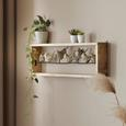 Wanddeko in Braun - Braun, LIFESTYLE, Holz/Metall (94/28/13cm) - Modern Living