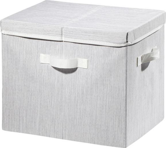Aufbewahrungsbox Sonia Hellgrau - Hellgrau, MODERN, Textil (38/28/32cm) - Mömax modern living