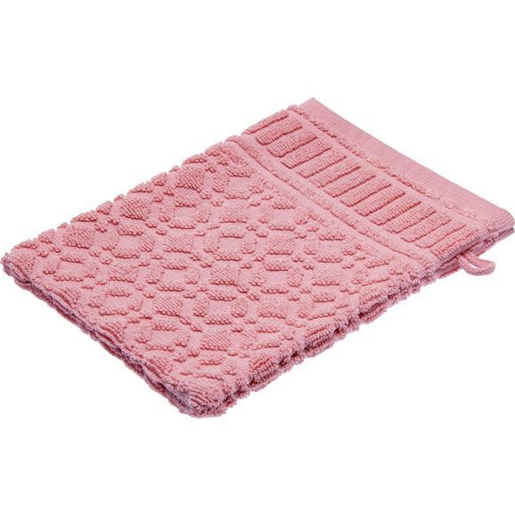 Rokavica Za Umivanje Carina - roza, Romantika, tekstil (16/21cm) - Mömax modern living