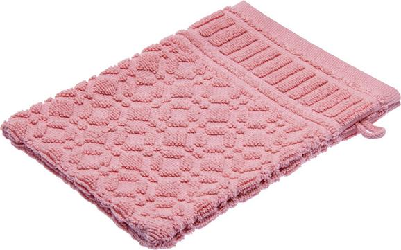Waschhandschuh Carina in Rosa - Rosa, ROMANTIK / LANDHAUS, Textil (16/21cm) - MÖMAX modern living
