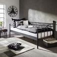 Kovinska postelja 90x200 cm Toskana - črna, Romantika, kovina (207/92/98cm) - Zandiara
