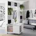 Canapea Jan - alb/negru, Lifestyle, plastic/lemn (180/79/92cm) - Modern Living