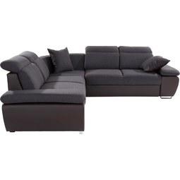 Sedežna Garnitura Logan - temno siva/rjava, Moderno, kovina/tekstil (270/270cm) - premium living