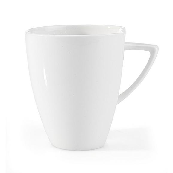 Kafeebecher Tacoma aus Keramik ca. 300ml - Weiß, LIFESTYLE, Keramik (8,4/9,8cm) - Premium Living