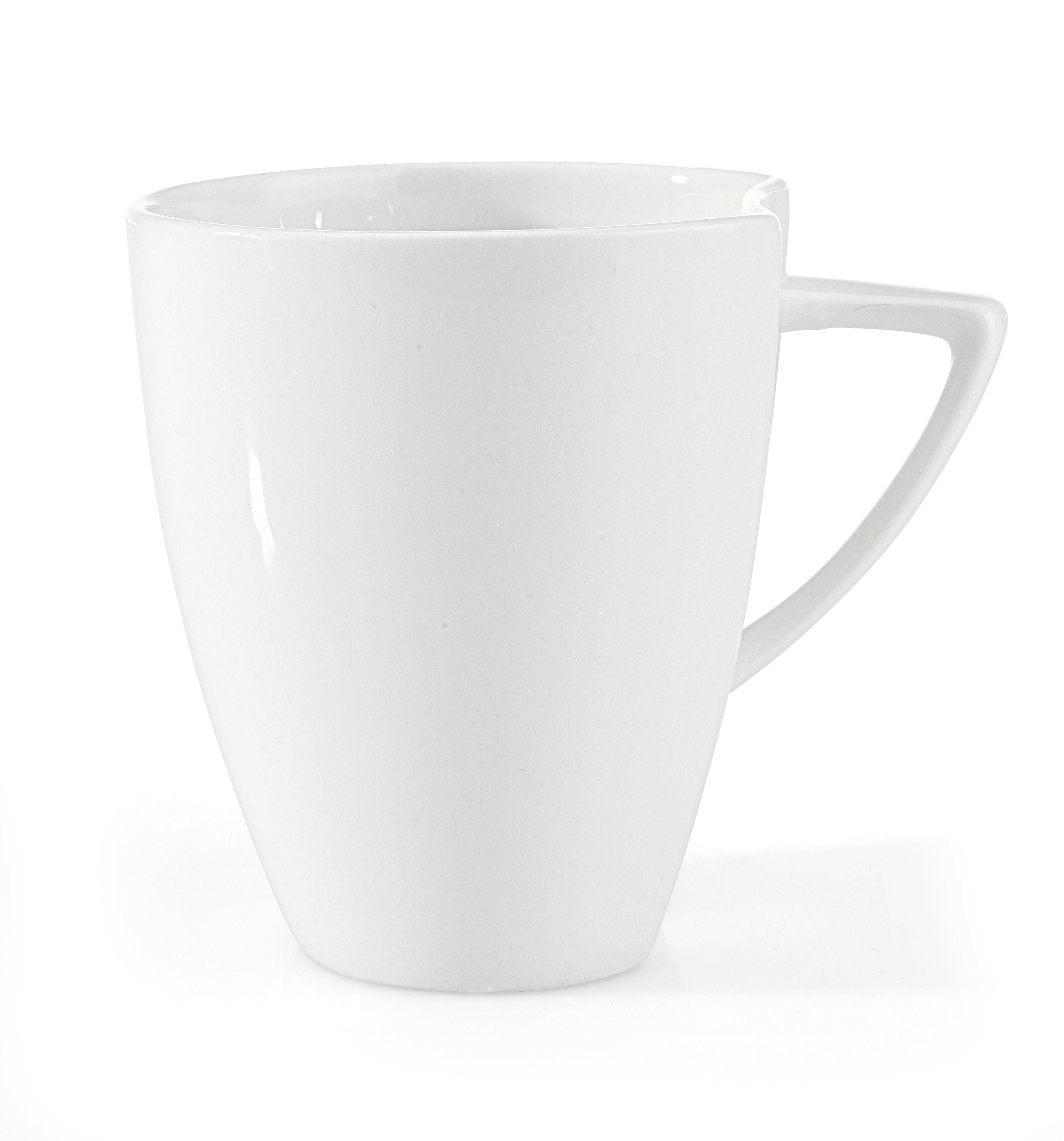 Kaffeebecher Tacoma in Weiß - Weiß, LIFESTYLE, Keramik (8,4/9,8cm) - PREMIUM LIVING