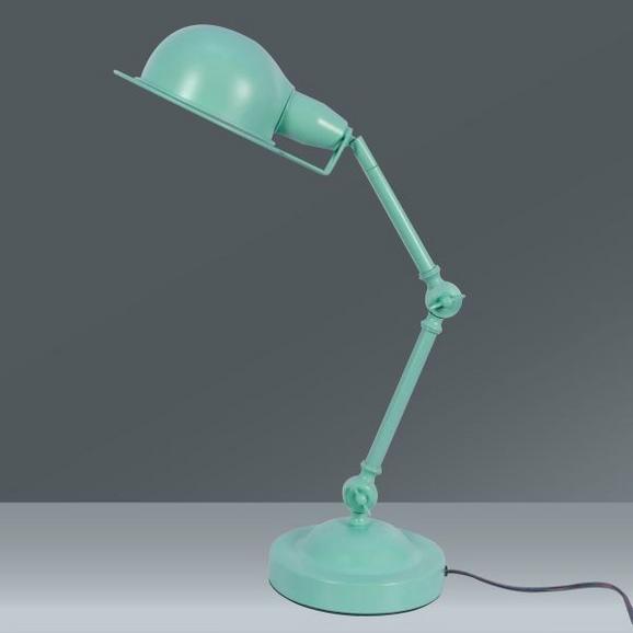 Schreibtischleuchte Pax, max. 40 Watt - Türkis, ROMANTIK / LANDHAUS, Metall (40/45cm) - MÖMAX modern living