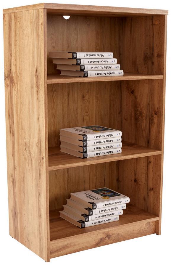 Regal 4-YOU NEW - črna/hrast, Moderno, leseni material (74/111,5/34,6cm) - Mömax modern living