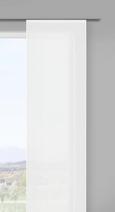 Flächenvorhang Stella Uni, ca. 60x245cm - Weiß, ROMANTIK / LANDHAUS, Textil (60/245cm) - Mömax modern living