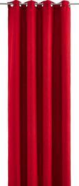 Ösenvorhang Ulli - rdeča, tekstil (140/245cm) - Mömax modern living
