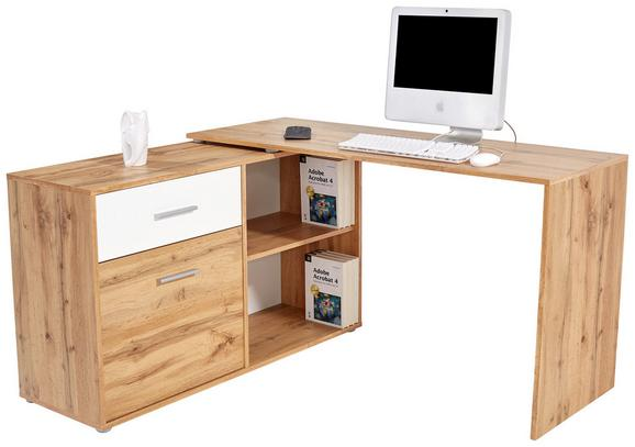Pisalna miza PRAG 138 - hrast, Moderno, leseni material (138/74/120cm) - MÖMAX modern living