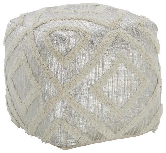 Pouf Naturfarben/Silberfarben - Silberfarben/Naturfarben, LIFESTYLE, Textil (45/45/45cm) - Modern Living