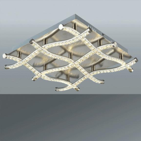 Stropna Led-svetilka Romeo - krom, Romantika, kovina/steklo (41/9cm) - Premium Living