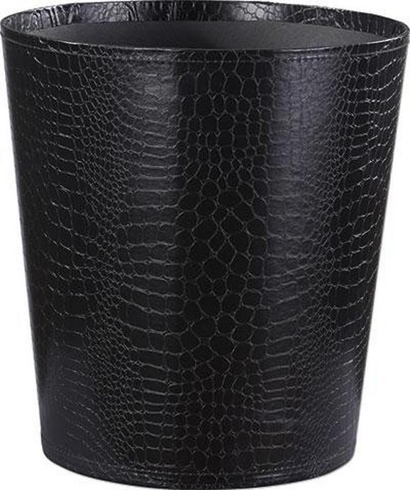 Szemetes Kuka Krokodilbőr Hatás - Fekete, Lifestyle, Karton (20,5/26/28cm) - Mömax modern living