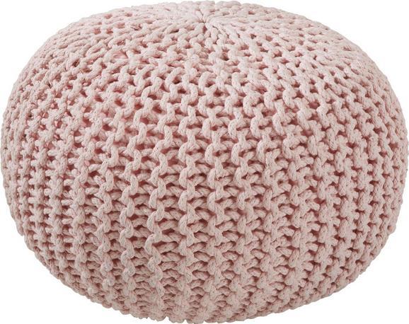 Sitzkissen Aline in Rosa, ca. 55x35cm - Rosa, Textil (55/35cm) - Premium Living
