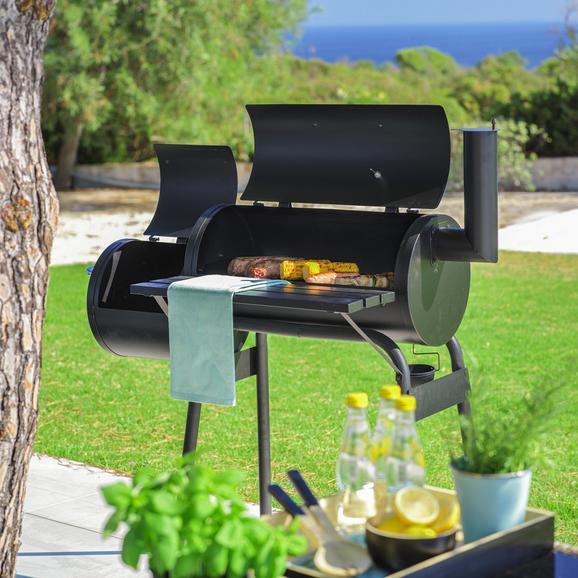 Barbecue Grillmax in Schwarz - Schwarz, Metall (112/116,5/63cm) - Modern Living