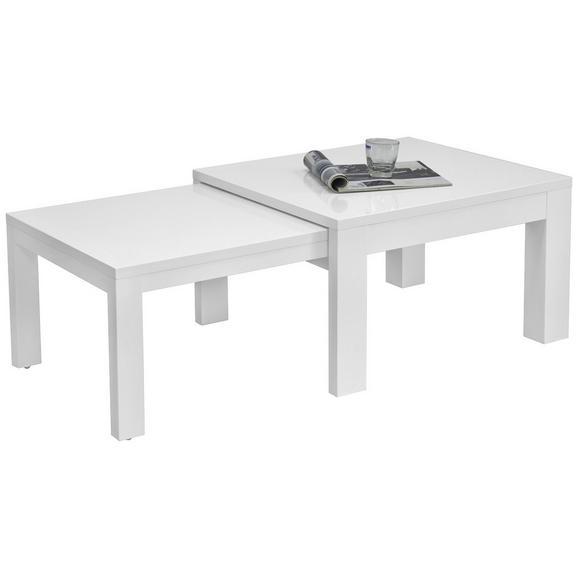 Couchtisch Weiß - Weiß, MODERN, Holzwerkstoff/Kunststoff (70-120kg) - Modern Living