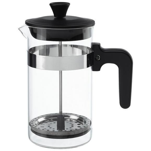 Kaffeebereiter French ca. 1l - Klar/Schwarz, KONVENTIONELL, Glas/Kunststoff (1l)