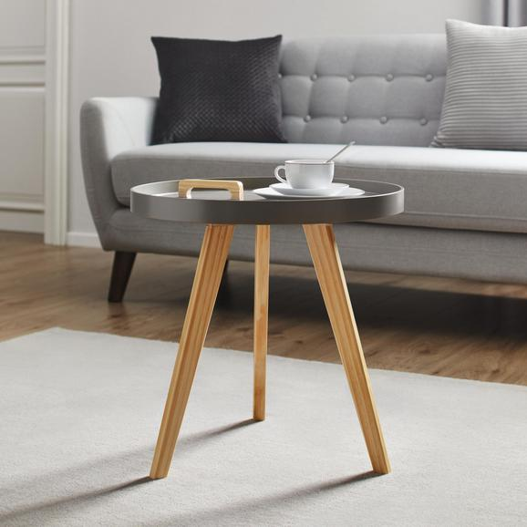 Couchtisch Jill Ø ca.50cm - Grau/Pinienfarben, MODERN, Holz/Holzwerkstoff (50/50cm) - Modern Living