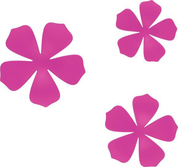 Wanddeko Flower in Pink - Pink, MODERN, Kunststoff (10,5/16,8cm) - MÖMAX modern living
