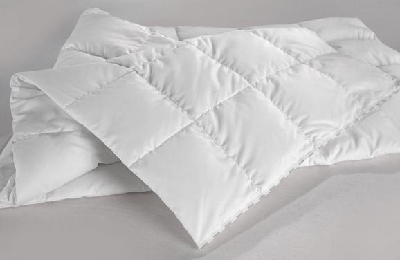 Kazettás Paplan Meleg - Fehér, Textil (140/200cm) - Premium Living