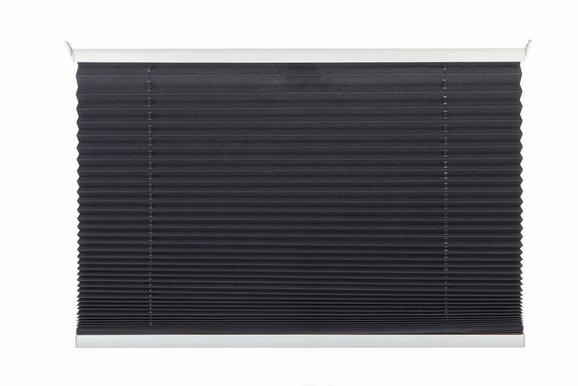 Plissee Free Grau ca. 80x130cm - Anthrazit, Textil (80/130cm) - Mömax modern living