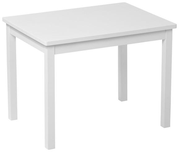 Kindertisch Weiß, ca. 66,5x50x50cm - Weiß, ROMANTIK / LANDHAUS, Holz (66,5/50/50cm)