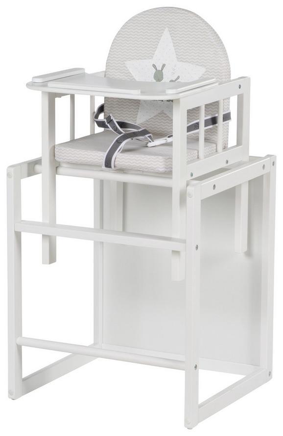 Kombihochstuhl in Weiß - Weiß, Holzwerkstoff (46/88/44cm) - MODERN LIVING
