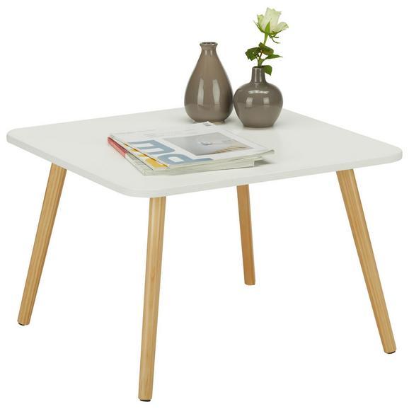 Klubska Miza Anouk - bor/bela, Moderno, leseni material/les (60/40/60cm) - Based