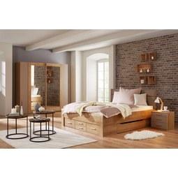 Bett Natur/Eichefarben 180x200cm - Eichefarben/Naturfarben, KONVENTIONELL, Holzwerkstoff/Textil (208/185/104cm) - Modern Living