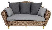 LOUNGESOFA NORA - Braun, Design, Kunststoff/Textil (197/100/112cm) - Ambia Garden