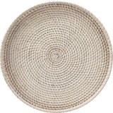 Dekor Tálca Janis - Fehér, Fa (45/4cm) - Mömax modern living